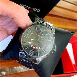 KONXIDO Accessories - Men's Oversized Quartz Calendar Watch